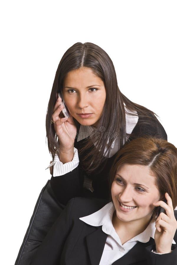 Telefoongesprekken stock afbeelding
