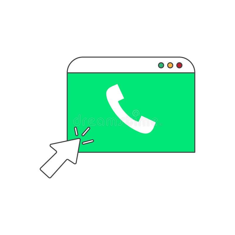 Telefoonnummeronderzoek gekleurd pictogram vectorontwerpillustratie stock illustratie