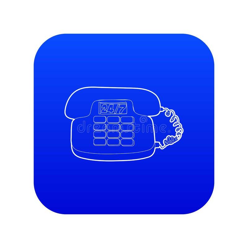 Telefoonpictogram blauwe vector vector illustratie