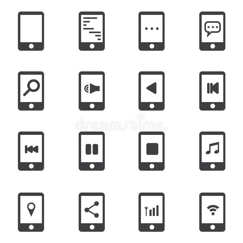 Telefoonpictogram, de vectorstijl van het illustion vlakke ontwerp stock illustratie