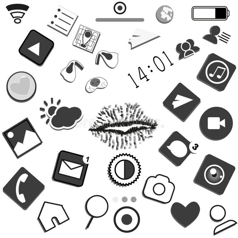 Telefoonpictogrammen stock fotografie