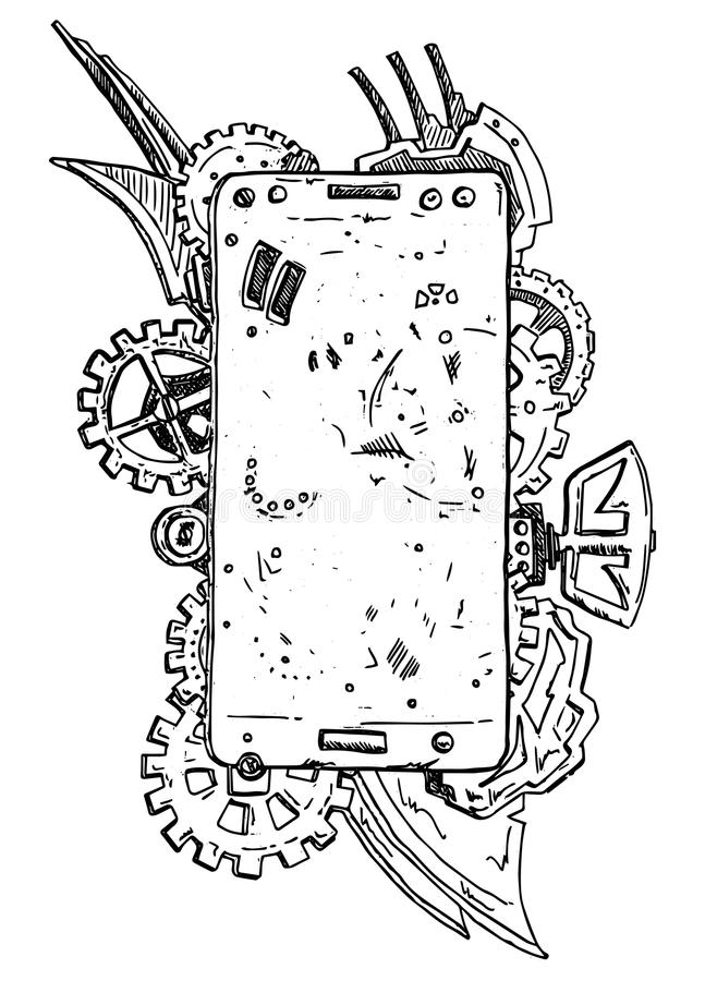 Telefoonsamenvatting vector illustratie