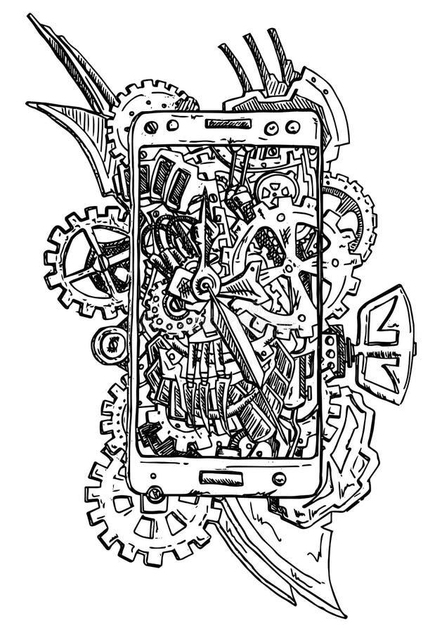 Telefoonsamenvatting royalty-vrije illustratie