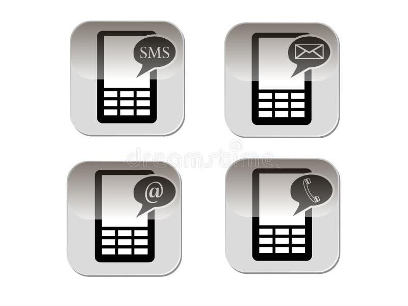 Telefoonsymbool royalty-vrije illustratie