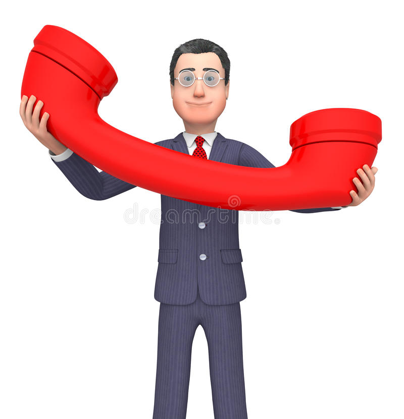 Telefoonzakenman Represents Entrepreneurial stock illustratie