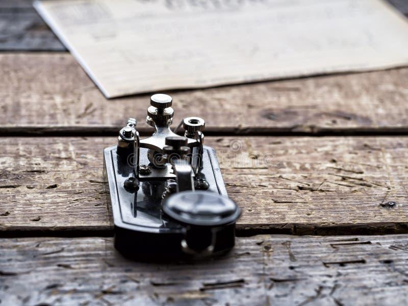 Telegrafo - codice Morse immagine stock