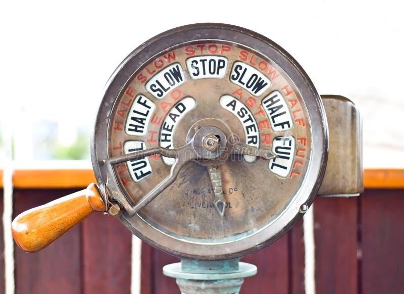 Telegrafo della nave fotografie stock libere da diritti