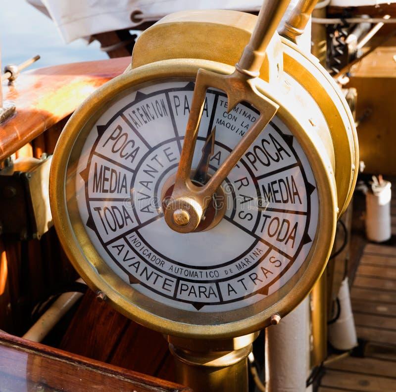 Telegrafo della nave fotografia stock