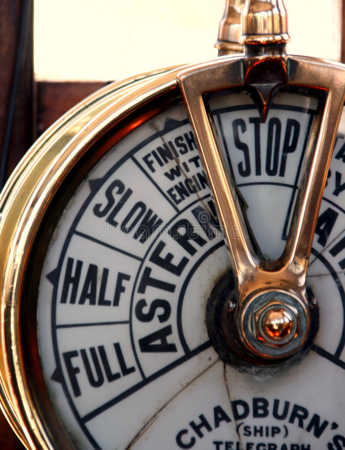 Telegrafo della nave fotografia stock libera da diritti