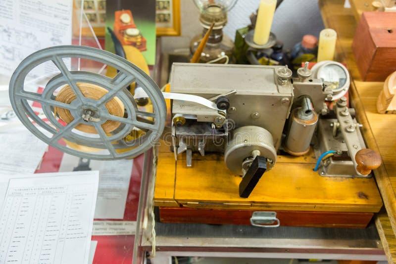 Telegrafo elettrico di Morse immagini stock libere da diritti