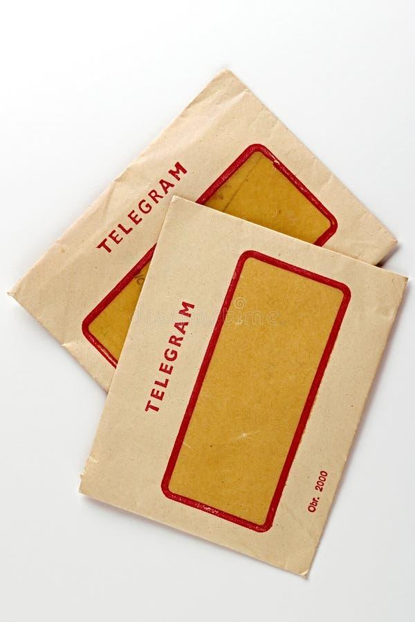 Telegrama imagen de archivo libre de regalías
