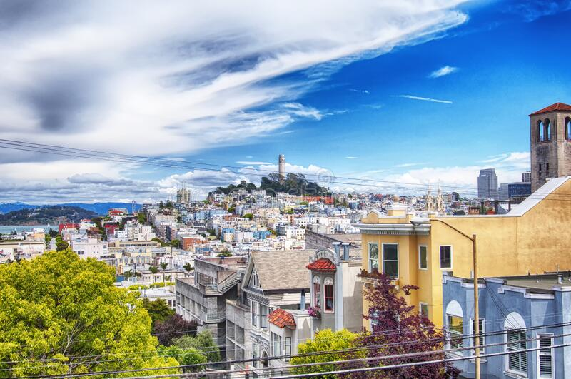 Telegraph Hill San Francisco Kalifornien stockbild