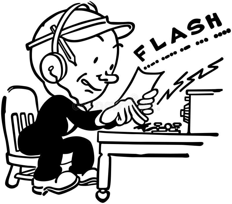 Operator Control Levers Clip Art : Telegraph operator stock vector illustration of reports