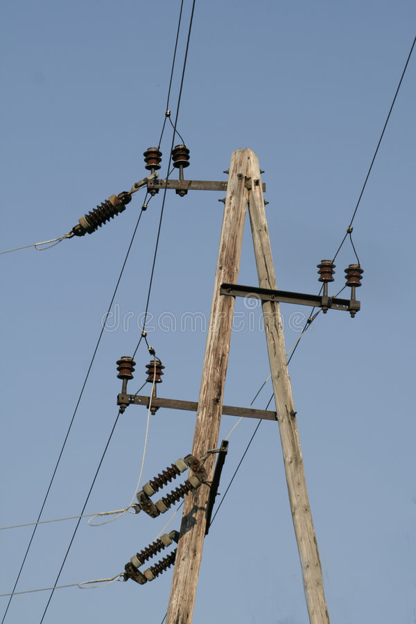 Telegraph pole II royalty free stock images