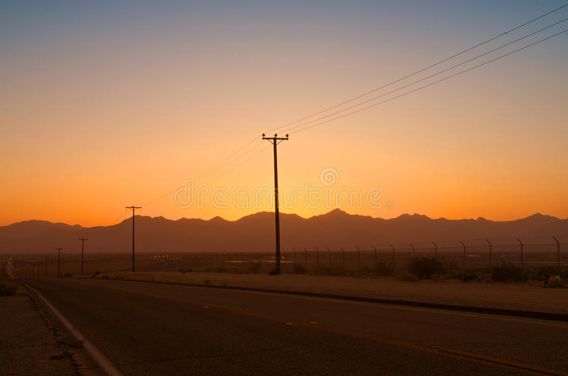 Download Telegraph Poles In The Desert Royalty Free Stock Photography - Image: 33269997