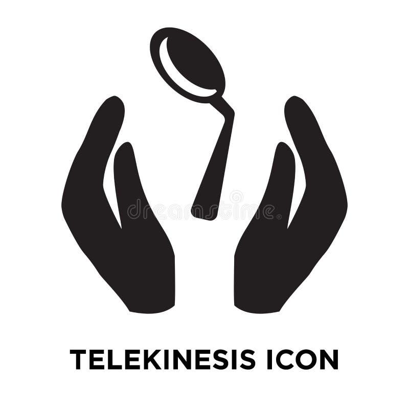 Telekinesisymbolsvektor som isoleras på vit bakgrund, logoconce stock illustrationer