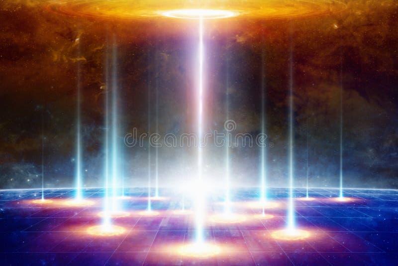 Telekinezja inny świat wymiar lub, tajny naukowy e obraz stock