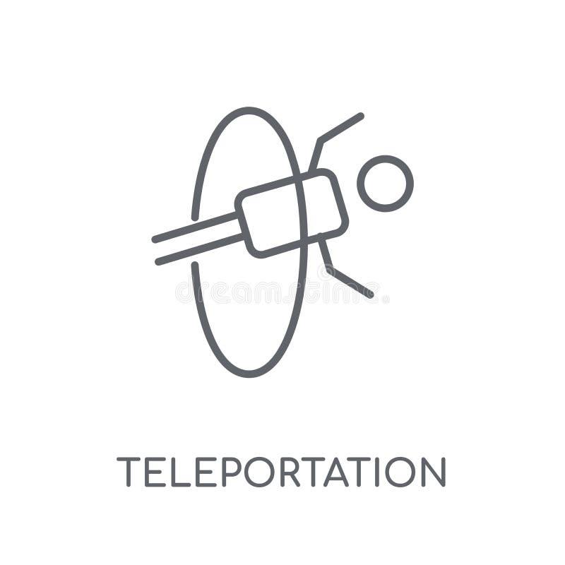 Telekinezji liniowa ikona Nowożytny kontur telekinezji logo przeciw ilustracji
