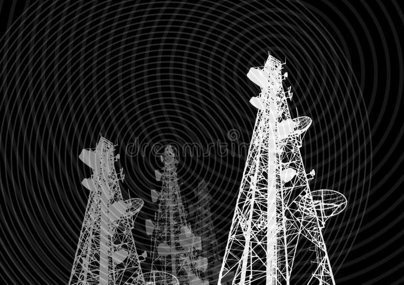 Telekom 01 vektor illustrationer