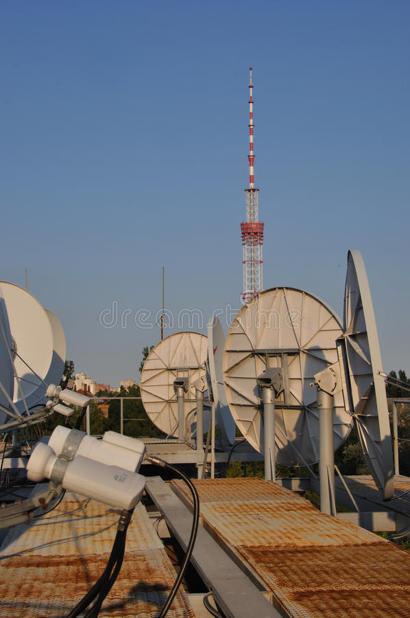 Telekommunikation Kyiv stockfotografie
