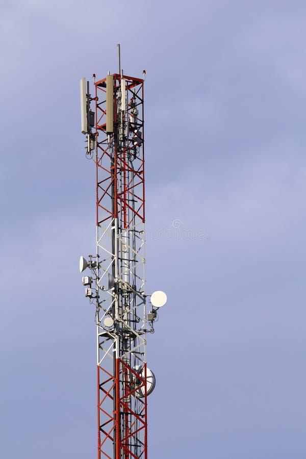 Telekommunikationsturm stockbilder