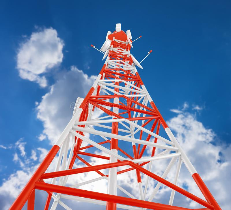 Telekommunikationtornet stock illustrationer