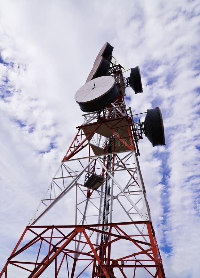 telekomunikacyjnym anteny zdjęcie stock