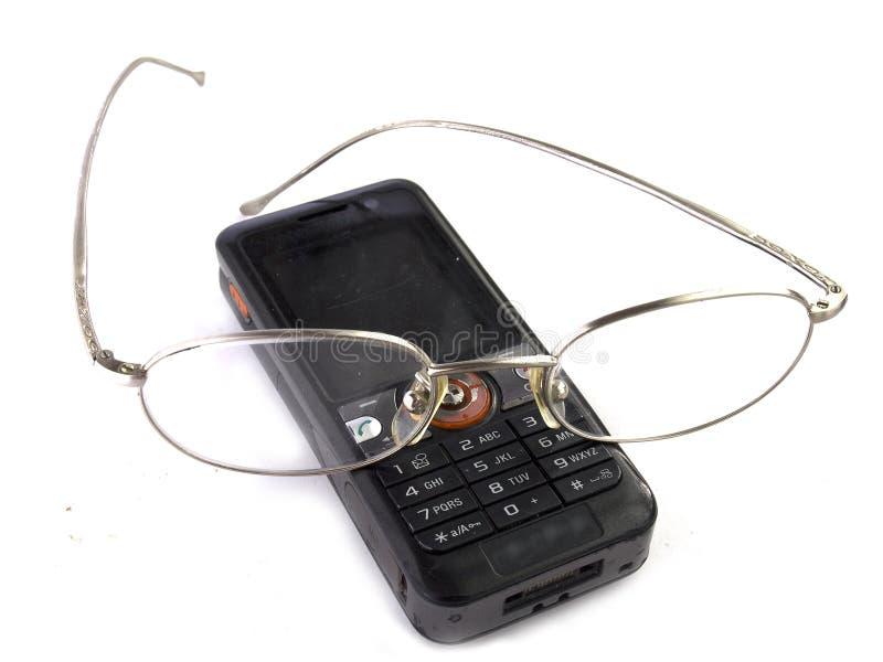Download Telemóvel com eyeglasses foto de stock. Imagem de eyeglasses - 12806274
