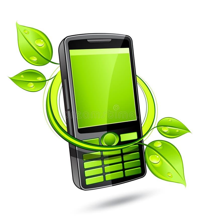 Telemóvel verde do eco ilustração stock