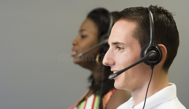Telemarketing 5 stock afbeeldingen