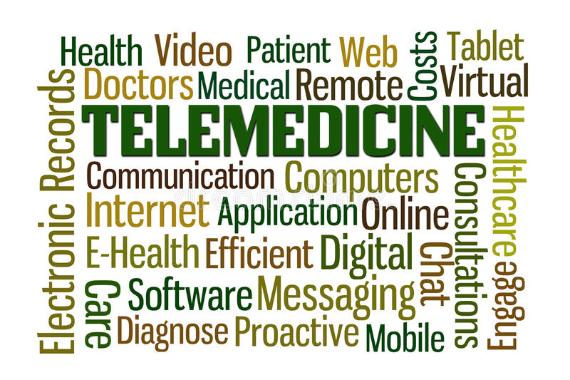 Telemedicine stock illustrationer