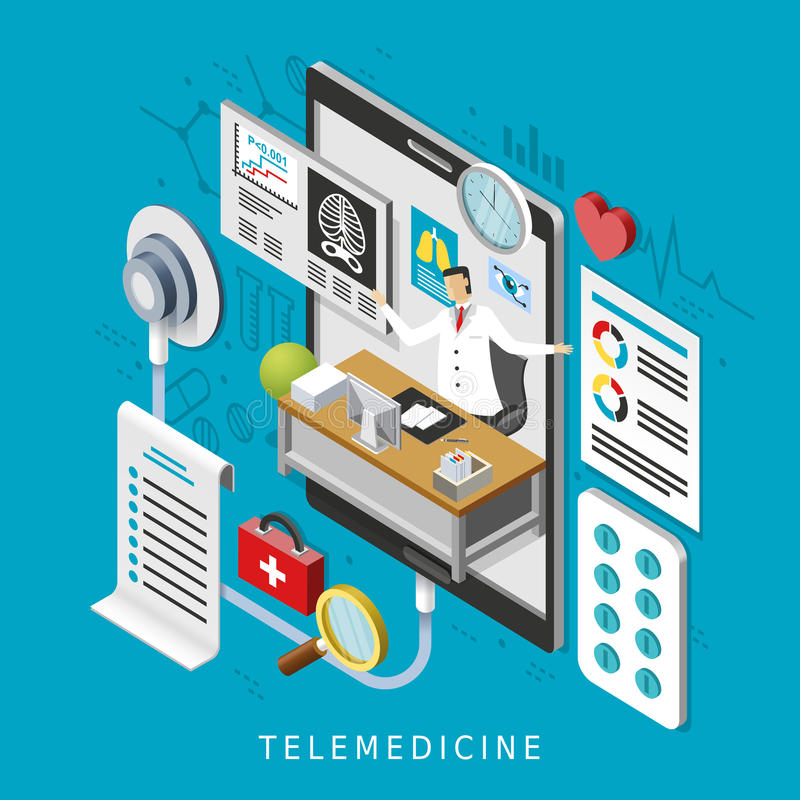 Telemedicine concept royalty free illustration