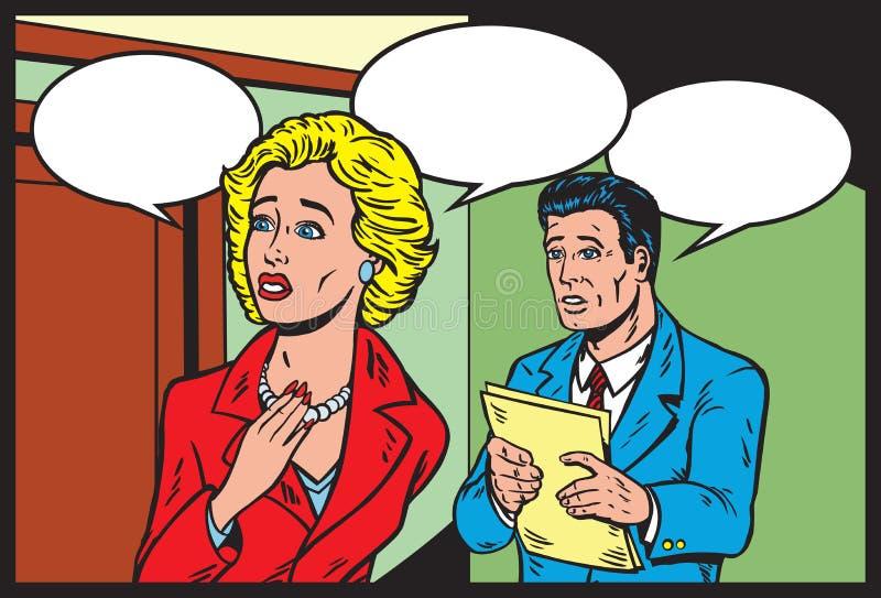 Telenovela cómica stock de ilustración