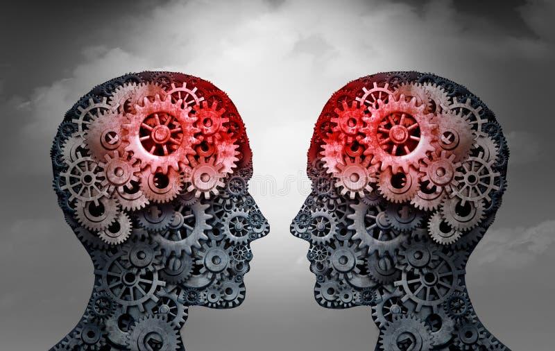 Telepathie-Kommunikations-Wissenschafts-Konzept lizenzfreie abbildung