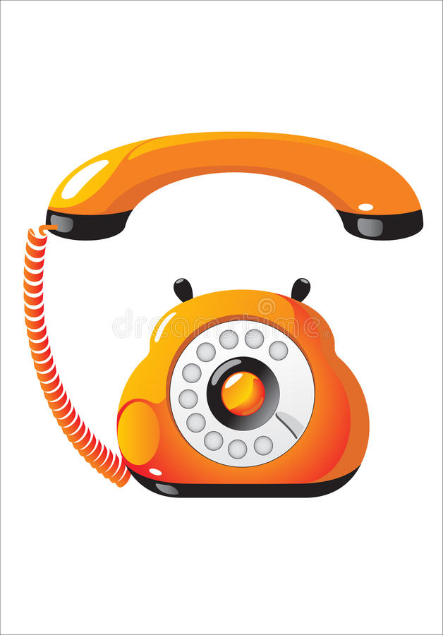 Telephone. It is a wonderful funny telephone stock illustration