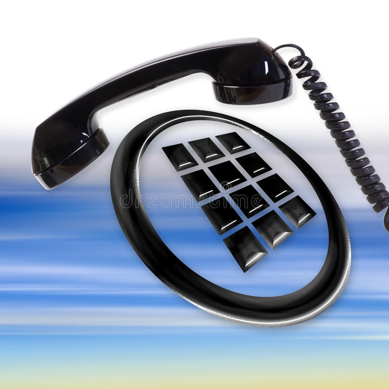 Download Telephone stock photo. Image of electronics, illustration - 25394440