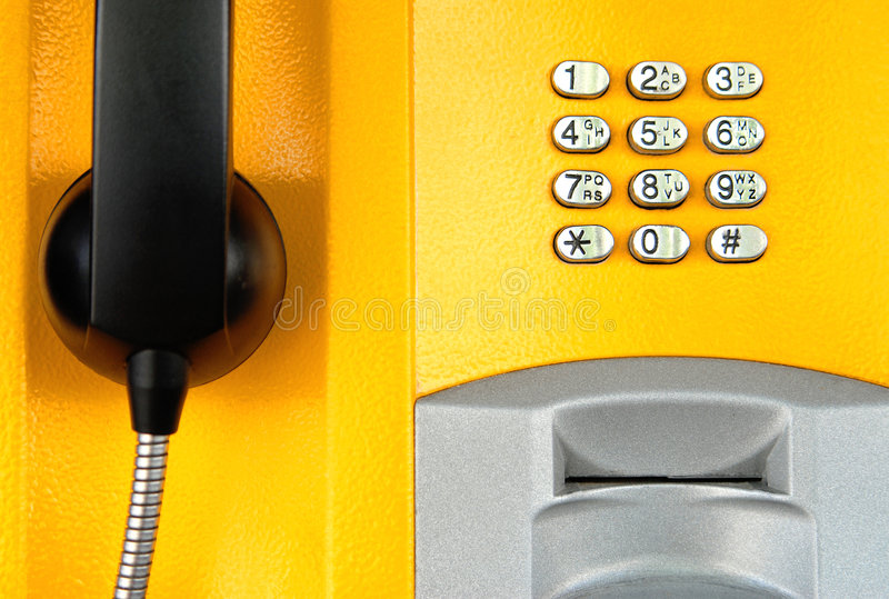Telephone. Abstract image of the yellow telephone royalty free stock photos