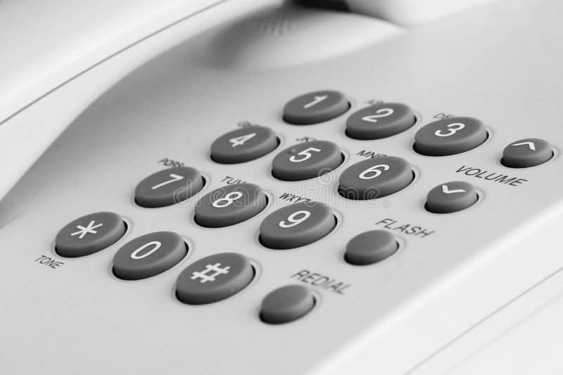 Telephone. A quite simple office telephone royalty free stock photo