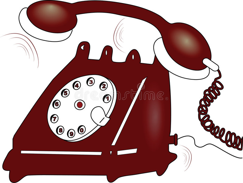 Telephone royalty free illustration