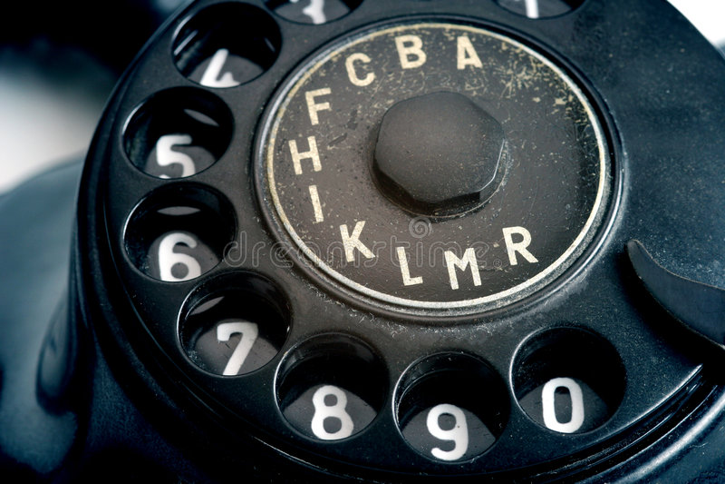 Telephone. Detail of vintage telephone royalty free stock image