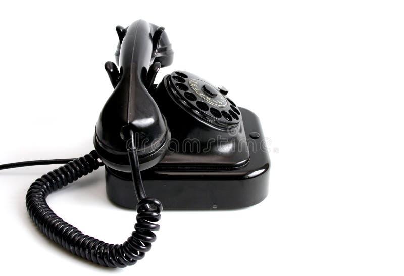 Telephone. Vintage telephone isolated stock image