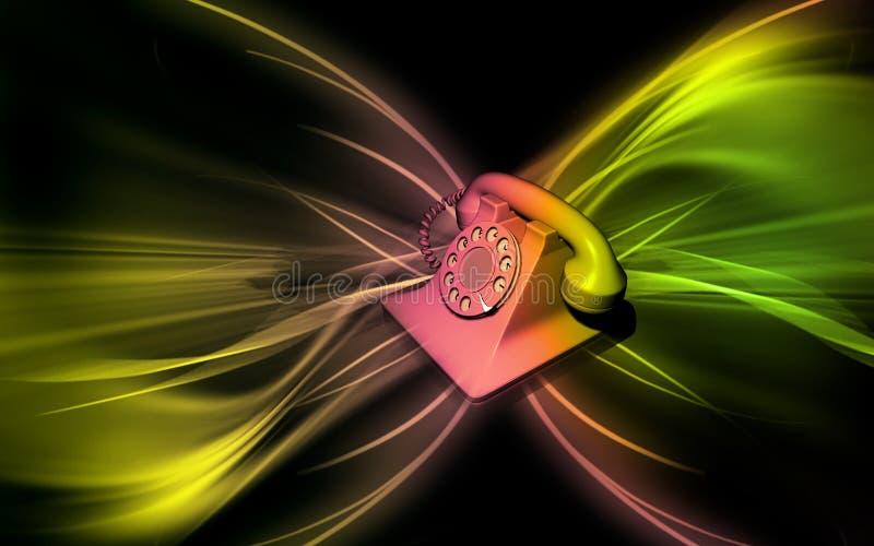 Telephone. Digital illustration of telephone in colour royalty free illustration