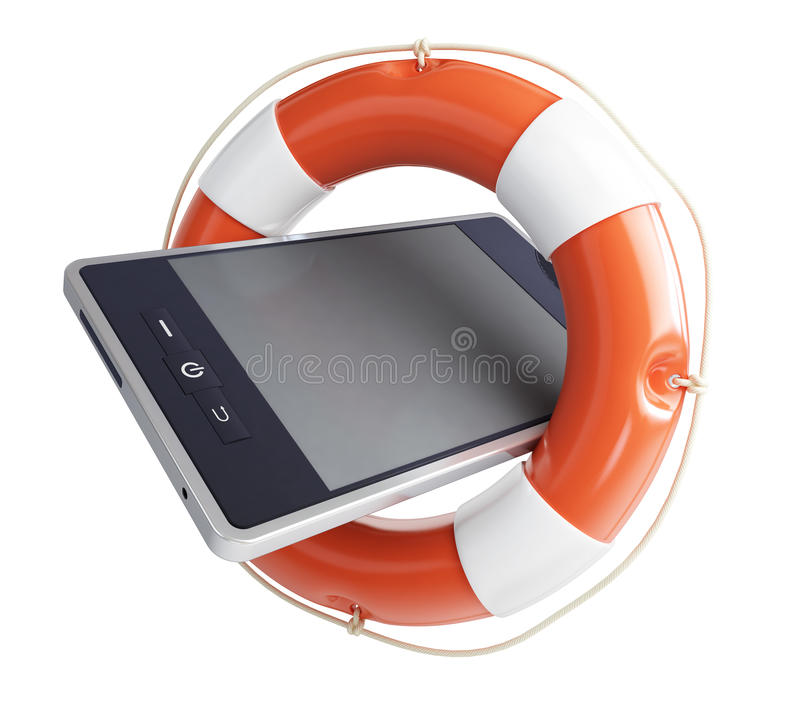 Download Telephone assistance stock illustration. Image of rescue - 22781968
