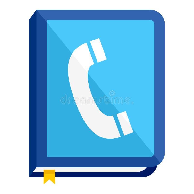 Telephone Book Flat Icon Isolated on White. Blue address book or telephone agenda flat icon, isolated on white background. Eps file available royalty free illustration