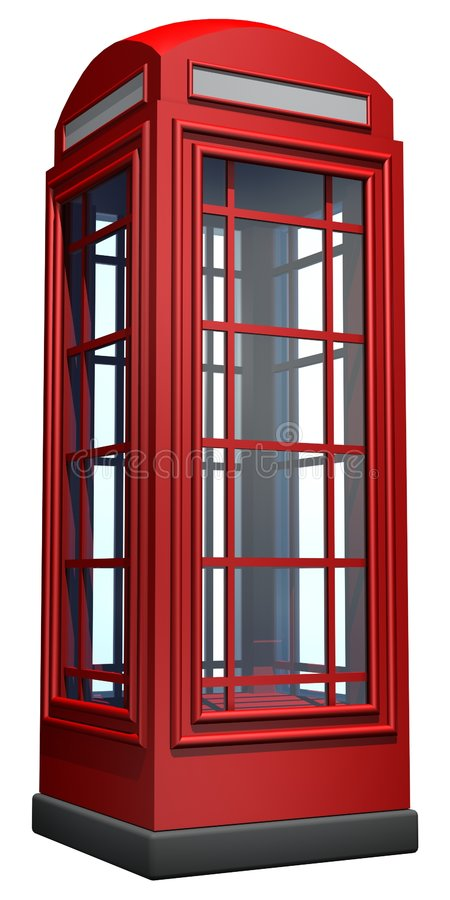 Telephone booth. Red telephone booth of british royalty free illustration