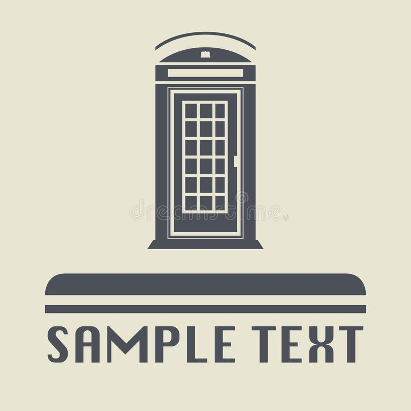 Telephone booth icon or sign royalty free illustration