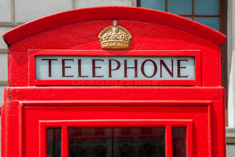Telephone booth. London, England. Red telephone box in London. England, UK royalty free stock photography