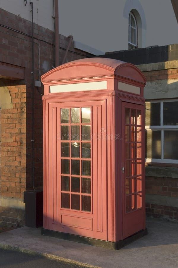Telephone box stock image