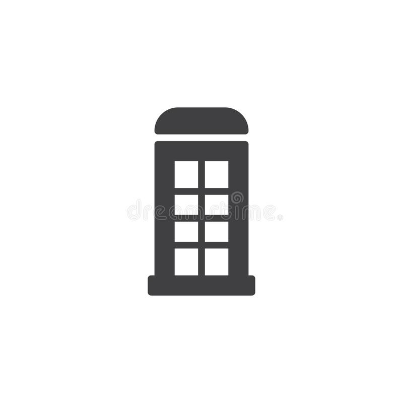 Telephone box icon vector vector illustration