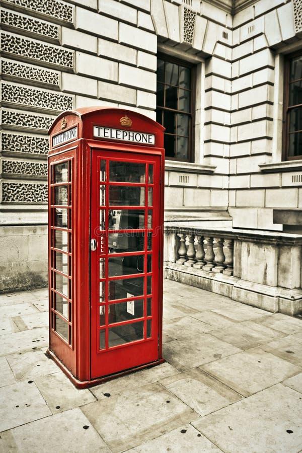 Telephone box in London. Classic red British telephone box in London royalty free stock photography